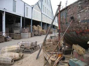 Props for the Golden Compass at the Dockyard's filming locations