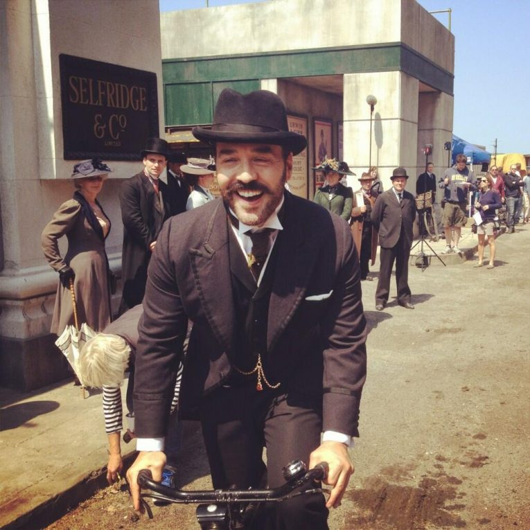 Jeremy Piven as Mr Selfridge at the Dockyards filming locations