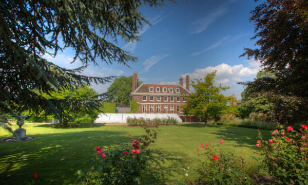 Garden view of Commissioners House at The Historic Dockyard Chatham in Kent