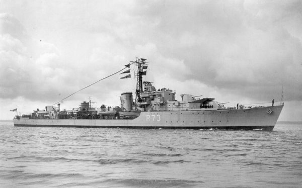 HMS Cavalier 1945