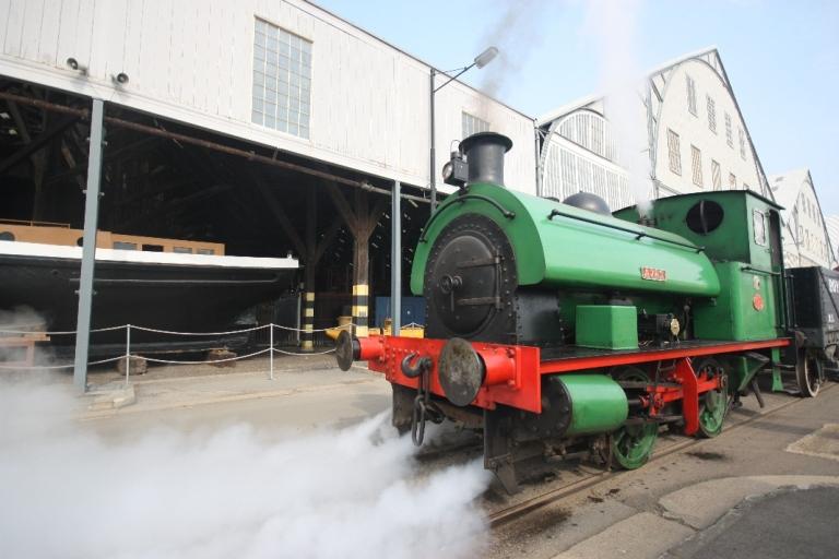 Ajax on the historic railway at The Historic Dockyard Chatham