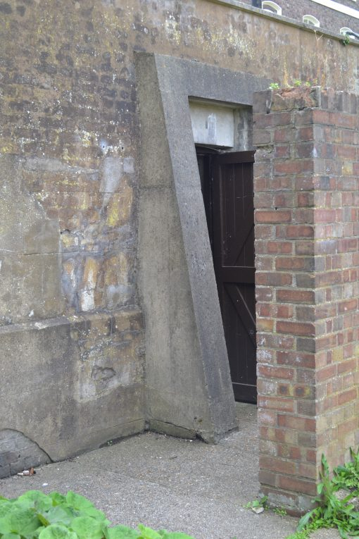 Blast Wave Entrance to Air Raid Shelter Officer's Terrace at Chatham Dockyard