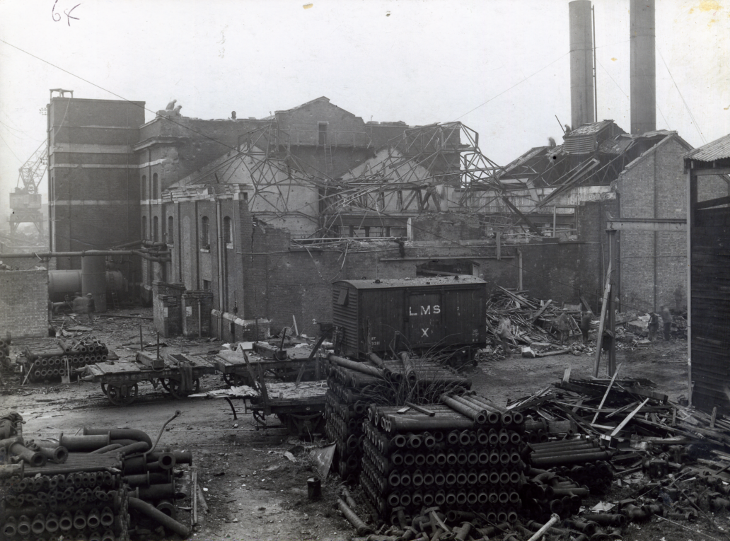 Chatham Dockyard Air Raid Damage during the Second World War