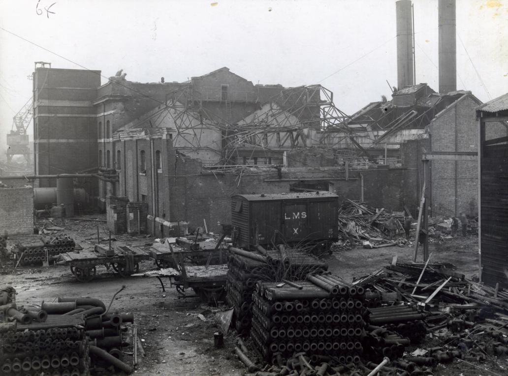 Chatham Dockyard Air Raid Damage during the Second World War