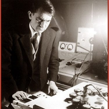 Photograph of composer Pierre Scharffer (1948) by Serge Lido