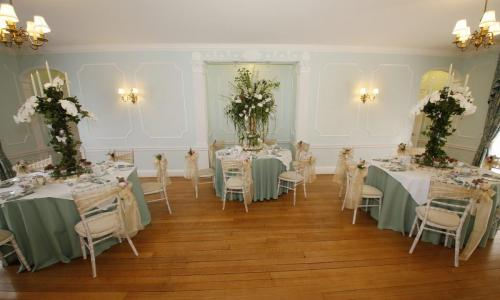 Commissioners House Ballroom dressed with round tables